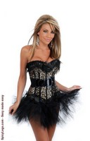 Burlesque Leopard Corset and Pettiskirt