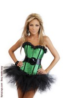 Burlesque Belted Corset and Pettiskirt