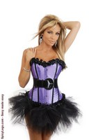 Strapless Burlesque Corset and Pettiskirt