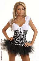 Zebra Underbust Corset and Pettiskirt