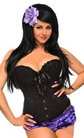 Plus Size Embroidered Burlesque Corset