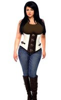 Top Drawer Plus Size Brocade Steel Boned Underbust Corset Top with Buckles