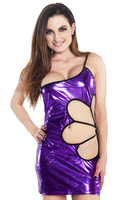 Purple Starling Valentine Mini Dress with G-string