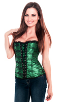 Green Fishnet St Patricks Day Corset Top