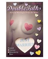 Double talks just married pastie - white heart with rose scent
