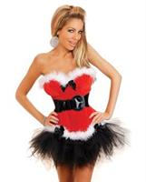 Holiday Flirt Velvet Bustier and Thong Set