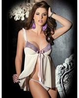 Stretch Mesh Babydoll and G-string