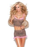 Vivace cami top and mini skirt leopard