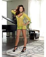 Stretch Fishnet Dress with G-string