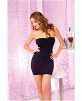Pink lipstick seamless rouched side tube dress
