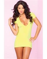 Seamless Mini Yellow Dress