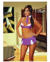 6 pc Summer School Drop Out Top and Skirt with Thong