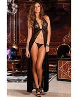 Rene rofe lace evening gown and g-string