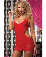 Seamless Dress with Attached Galloon Lace Skirt