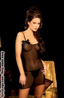 Mesh dress and g-string