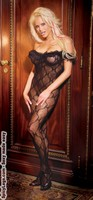 Bodystocking with a ruffle top