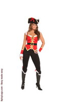 4 pc. Sultry Swashbuckler Costume