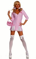 3 pc Cute Candy Striper Costume