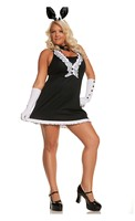 5 pc Black Tie Bunny Costume