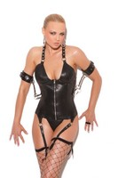 Leather Zip Front Corset