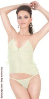 Sheer camisole with G-string