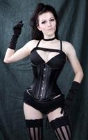 Genuine Calfskin Leather Underbust Corset