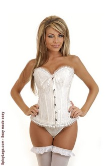 Rhinestone Embroidered Bridal Corset