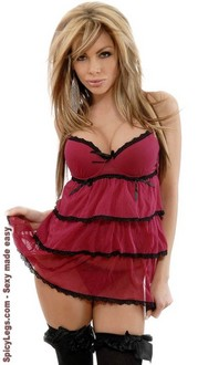 2 PC Ruffled Underwire Babydoll