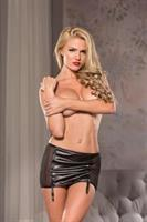 Naughty Black Garter Skirt