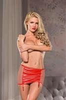 Naughty Red Garter Skirt