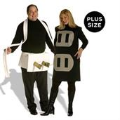 Plug and Socket Couples Set Adult Plus Costume