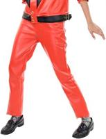 Red Leather Pants Adult Costume