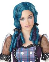 Doll Curls Adult Wig - Teal/Purple