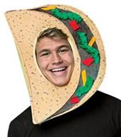 Taco Adult Open Face Head Mask