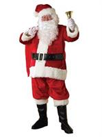Regency Plush Santa Suit Adult Costume