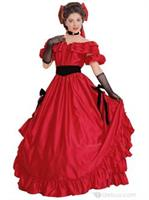 Red Southern Belle Adult Costume