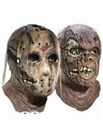 Friday the 13th Jason Voorhees Deluxe Adult Overhead Latex Mask with Removable Hockey Mask