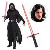 Star Wars Episode VIII: The Last Jedi - Kylo Ren Deluxe Adult Costume with Wig and Lightsaber