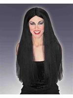 "Adult Extra Long Black 30"" Wig"