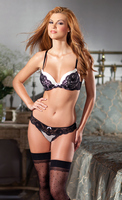 2-Piece Padded bra with matching thong.