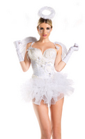 2 Piece White Swan/Angel