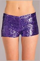 Sequin booty shorts Purple