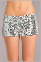 Sequin booty shorts Silver