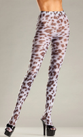 Sheer Animal Print Tights