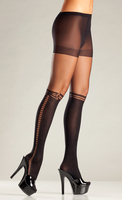 Sheer Spandex Pantyhose with Faux Knee High Design