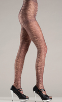 Tan toned snake skin design pantyhose