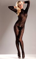 Long Sleeve Spiderweb Body Stocking