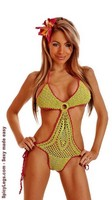 Watermelon Crochet Pucker Back Monokini