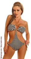 Sailor Stripe Pucker Back Monokini
