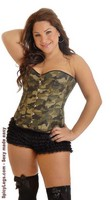 Plus Size Camo Queen Burlesque Corset